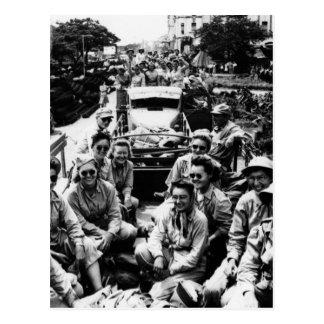 Convoy of Nurses WWII Postcard