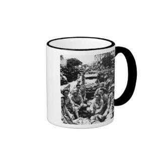 Convoy of Nurses WWII Ringer Coffee Mug