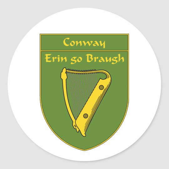 Conway 1798 Flag Shield Classic Round Sticker