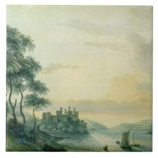 Conway Castle, 1789 (w/c on paper) Ceramic Tile