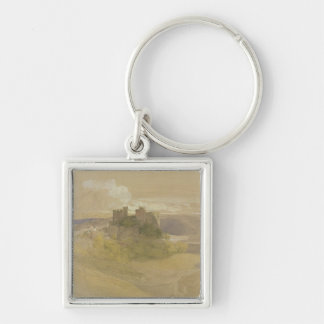 Conway Castle (graphite, w/c and gouache on paper Keychain