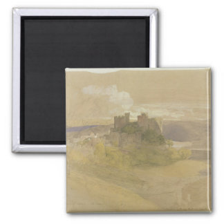 Conway Castle (graphite, w/c and gouache on paper Fridge Magnet