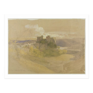 Conway Castle (graphite, w/c and gouache on paper Postcard