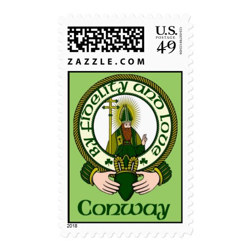 Conway Clan Motto Postage Stamps