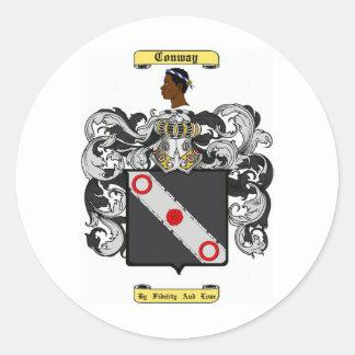 conway classic round sticker