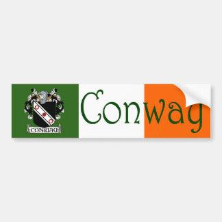 Conway Coat of Arms Bumper Sticker Car Bumper Sticker