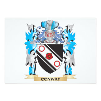 Conway Coat of Arms - Family Crest 5x7 Paper Invitation Card