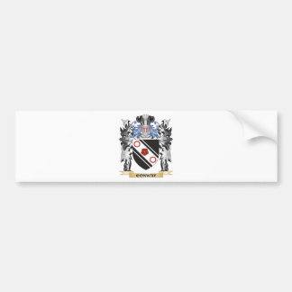 Conway Coat of Arms - Family Crest Car Bumper Sticker
