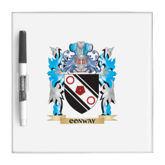 Conway Coat of Arms - Family Crest Dry Erase Boards