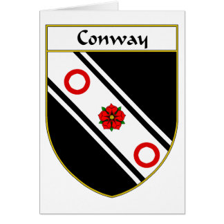 Conway Coat of Arms/Family Crest Greeting Card