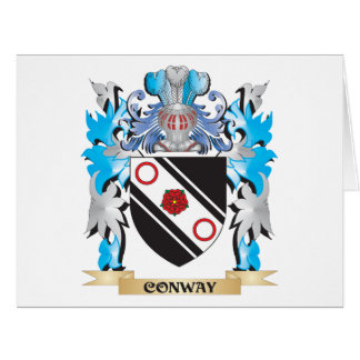 Conway Coat of Arms - Family Crest Large Greeting Card