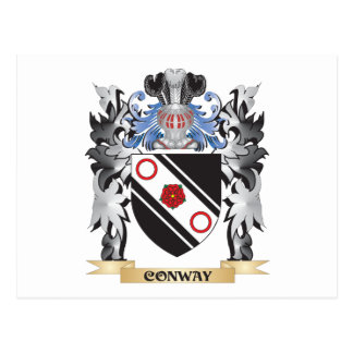 Conway Coat of Arms - Family Crest Postcard