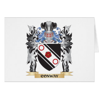 Conway Coat of Arms - Family Crest Stationery Note Card