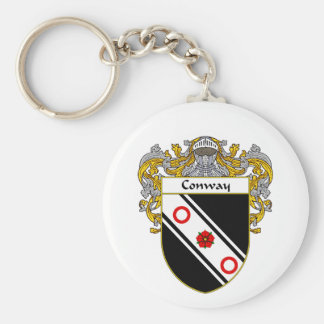 Conway Coat of Arms (Mantled) Key Chains