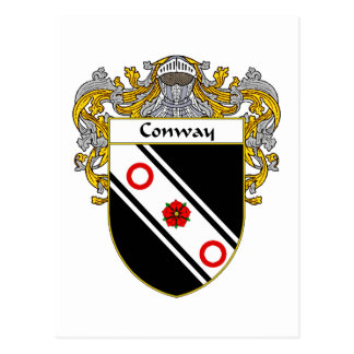 Conway Coat of Arms (Mantled) Postcard