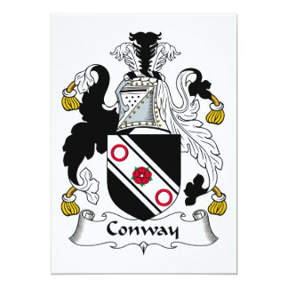 Conway Family Crest 5x7 Paper Invitation Card
