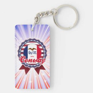 Conway, IA Acrylic Keychain