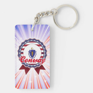 Conway, MA Rectangle Acrylic Keychains