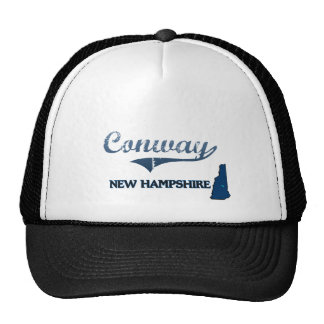 Conway New Hampshire City Classic Trucker Hats