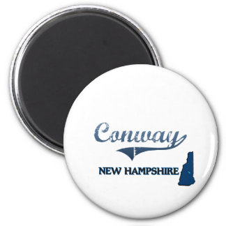 Conway New Hampshire City Classic 2 Inch Round Magnet