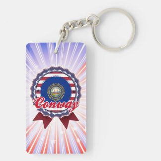 Conway, NH Rectangle Acrylic Key Chain