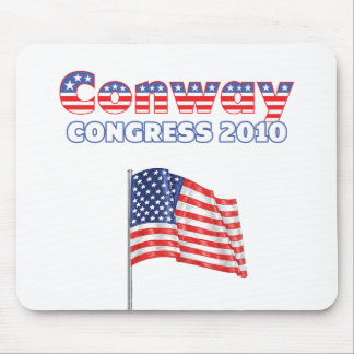 Conway Patriotic American Flag 2010 Elections Mouse Pad