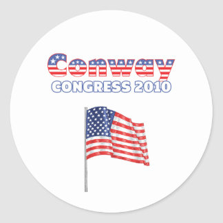 Conway Patriotic American Flag 2010 Elections Classic Round Sticker