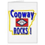 Conway Rocks ! (blue) Greeting Card