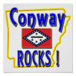 Conway Rocks ! (blue) Print
