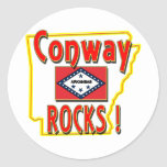 Conway Rocks ! (red) Stickers
