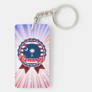 Conway, SC Rectangle Acrylic Key Chain