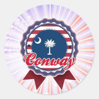 Conway, SC Classic Round Sticker