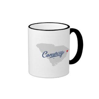 Conway South Carolina SC Shirt Ringer Coffee Mug