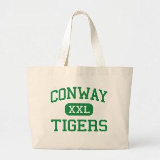 Conway - tigres - alto - Conway Carolina del Sur Bolsa Lienzo