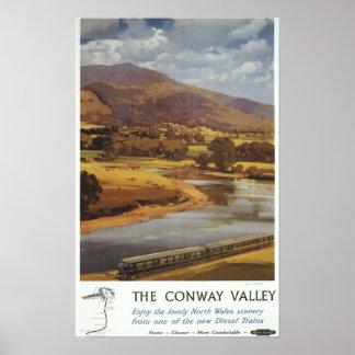 Conway Valley Scene British Railways Poster