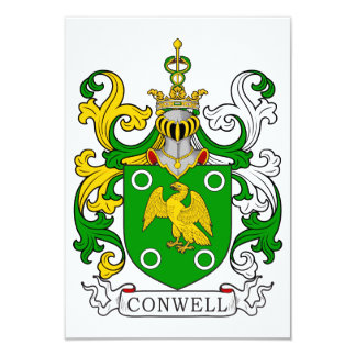 Conwell Coat of Arms Personalized Invitations