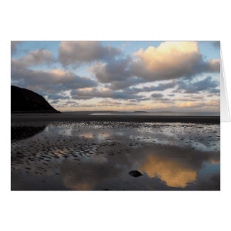 Conwy Beach Reflections Card