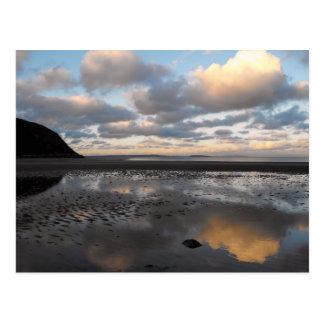 Conwy Beach Reflections Postcard