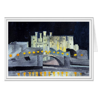 Conwy Castle at Night Card