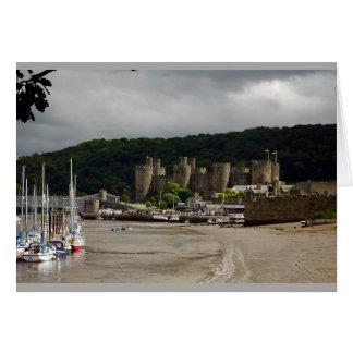 Conwy castle north Wales Card