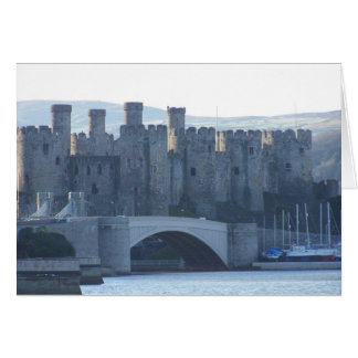 Conwy castle Wales. Card