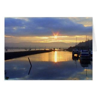 Conwy Estuary Sunrise Card