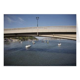 Conwy road bridge. card