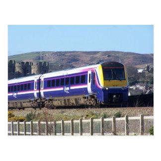 Conwy train postcard