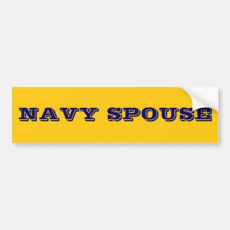 Cónyuge de la marina de guerra de la pegatina para pegatina para auto