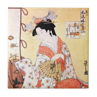 Coo clásico japonés oriental fresco del arte de la azulejo cuadrado pequeño