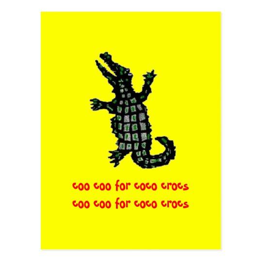 coo coo for coco crocs postcard