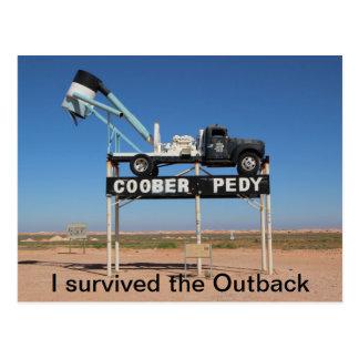 Coober Pedy Outback Australia Souvenir Photo Postcard