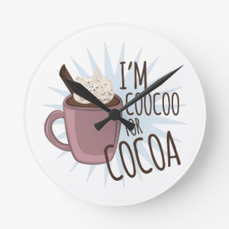Coocoo For Cocoa Round Wall Clock