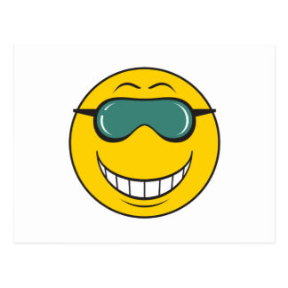Cood Dude Smiley Face Post Card